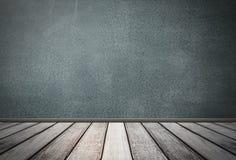 Betonmauer- und Bretterbodenplankenhintergrund stockfotos
