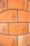 Betonmauerziegelstein Mailands Italien das abstrakte backgro Stockfotos