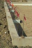 betonową podstawę budowy Fotografia Stock