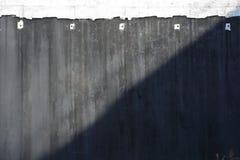 Betonowa ściana, część autostrady budowa Fotografia Stock