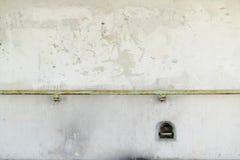 Betonowa ściana i poręcz pod mostem Fotografia Stock