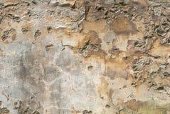 Betonowa ściana z starego tynku tekstury odłupanym tłem Zdjęcie Royalty Free