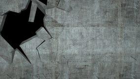 Betonowa ściana z zniszczeniem, 3 d odpłaca się Obraz Royalty Free