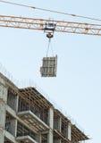 Betonowa budowa nowy budynek Zdjęcia Royalty Free