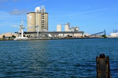 Betonowa, cement fabryka/ Fotografia Stock