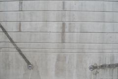 Betonowa ściana z horyzontalnymi liniami Obraz Stock