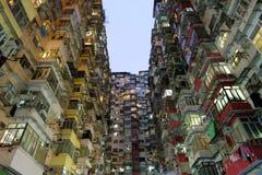 Betonowa dżungla łupu zatoka Hong Kong Zdjęcia Stock