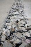 Betonowa droga łamająca Zdjęcie Royalty Free