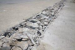 Betonowa droga łamająca Obraz Royalty Free