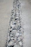 Betonowa droga łamająca Zdjęcia Royalty Free