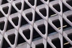 Betonowa fasada Londyński parking samochodowy Zdjęcia Stock