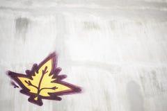 Betonowa liść farby ściana Zdjęcia Royalty Free