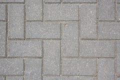 Betonowa płytka na zmielonego bruk ścieżki abstrakta wzoru tekstury tła odgórnym strzale Zdjęcie Royalty Free