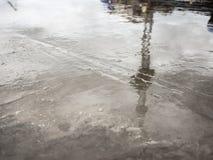 Betonowa podłoga no jest sucha po nalewać zdjęcie royalty free