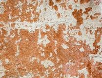 Betonowa powierzchnia z resztkami wybielanie i pomarańczowa farba Obrazy Stock