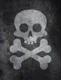 Betonowa tekstura z czaszką royalty ilustracja