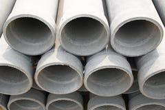 Betonowe drenaż drymby Obrazy Stock