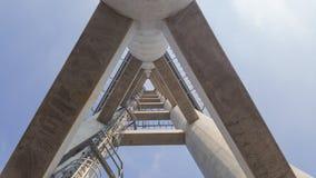 Betonowe struktury i metal drabina do wierzchołka Obraz Royalty Free