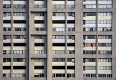 Betonowego bloku mieszkaniowego Architektoniczny tło, tekstura/ Zdjęcie Stock
