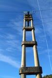 betonowego elektrycznego słupa retro wierza Zdjęcie Stock