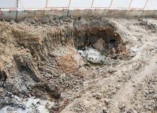 Betonowego filaru dziura Obraz Stock
