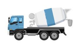Betonowego melanżeru ciężarówka odizolowywająca na białym tle ilustracji