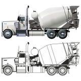 betonowego melanżeru ciężarówki wektor Obraz Stock