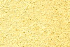 Betonowej ściany tekstury kolor żółty Obraz Royalty Free