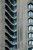 Betonowi Architektoniczni kroki w barbakanu terenie Londyn Fotografia Stock