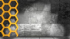 Betonowi bloki i honeycomb Obrazy Stock