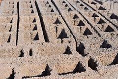 Betonowi bloki na barłogu Zdjęcia Royalty Free