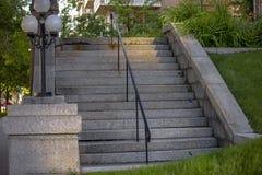 Betonowi schodki w w centrum Salt Lake City obrazy stock