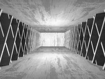 Betonowy architektury tło Abstrakta pusty ciemny pokój Fotografia Stock