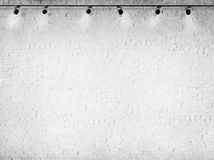 Betonowy Biały tła Oświetleniowego wyposażenia pojęcie Obrazy Royalty Free