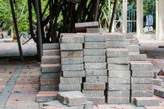 Betonowy Brukowy kamień Fotografia Stock