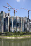 betonowy budowy highrise miejsce Obrazy Royalty Free