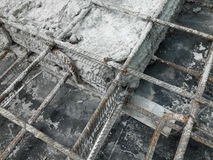 Betonowy budowy złącze przy budową Zdjęcie Stock