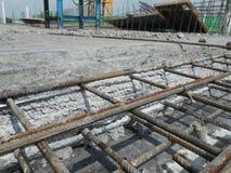 Betonowy budowy złącze przy budową Zdjęcia Stock