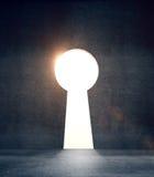 Betonowy drzwi w formularzowym keyhole ilustracja wektor