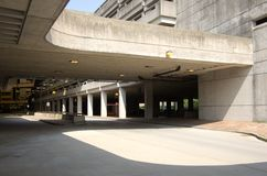 Betonowy garaż przy MBTA stacją Fotografia Royalty Free