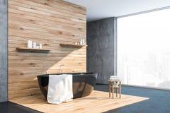 Betonowy i drewniany loft łazienki kąt ilustracji
