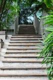 Betonowy i drewniany schody zdjęcia stock