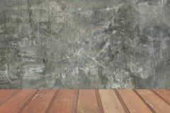 Betonowy i drewniany tło Zdjęcia Royalty Free