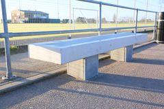 Betonowy jawny miejsca siedzące Obraz Royalty Free