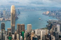 Betonowy las dla oba strona Hong Kong Obrazy Stock