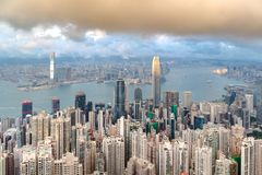 Betonowy las dla oba strona Hong Kong Zdjęcie Royalty Free