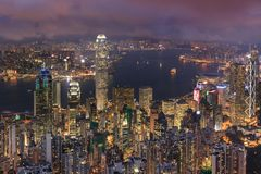 Betonowy las dla oba strona Hong Kong Zdjęcia Royalty Free
