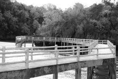 Betonowy most od schronienia wyspa Fotografia Stock