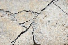 betonowy pęknięcie Fotografia Royalty Free