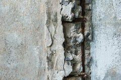Betonowy palowanie w stanach disrepair obrazy stock